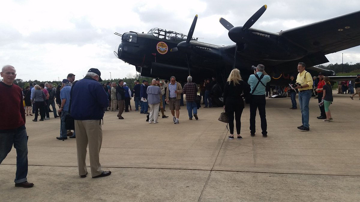 The Lancaster carried some of the largest bombs used by the RAF during World War II. (WTOP/Kathy Stewart)