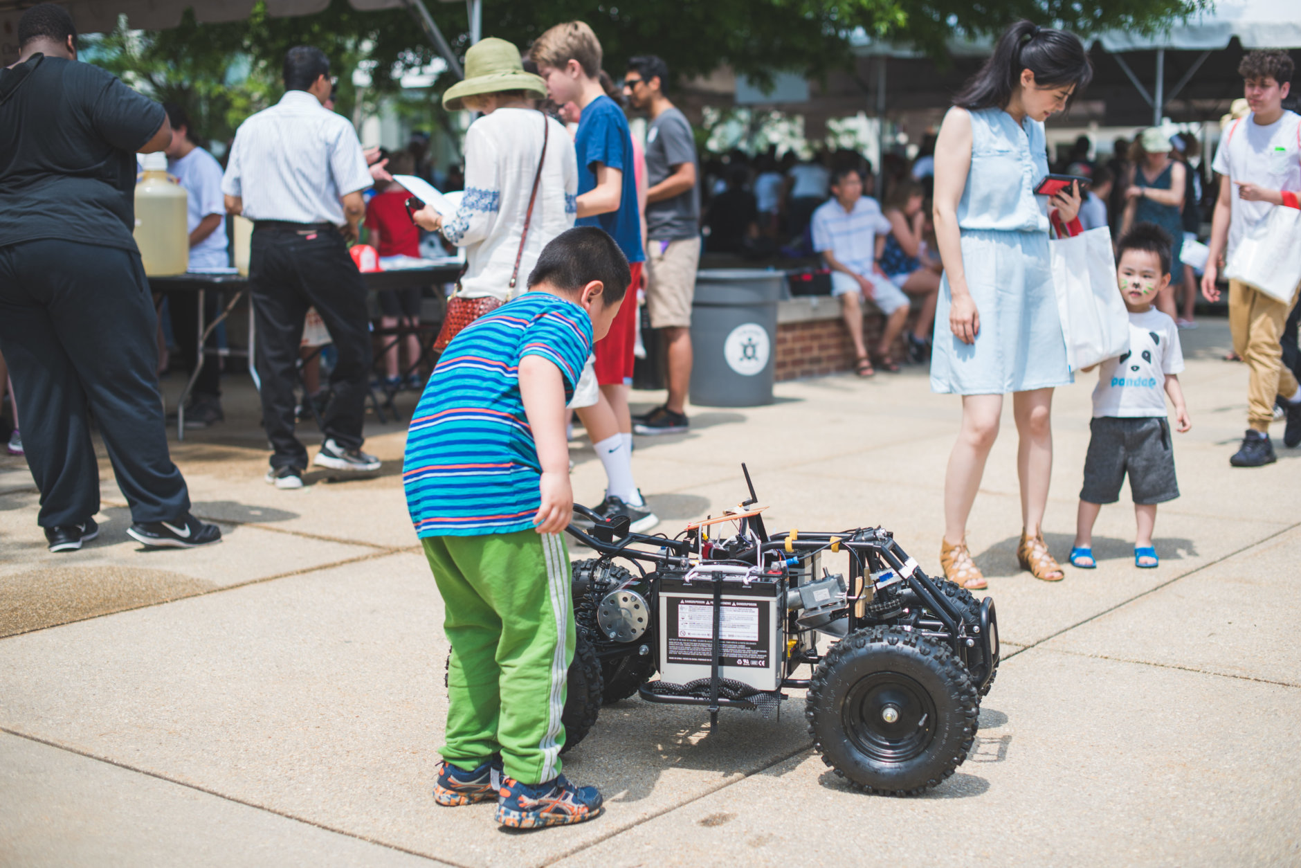 This robot was rolling around along Science and Tech Way at the 2017 Maryland Day. (Courtesy University of Maryland)