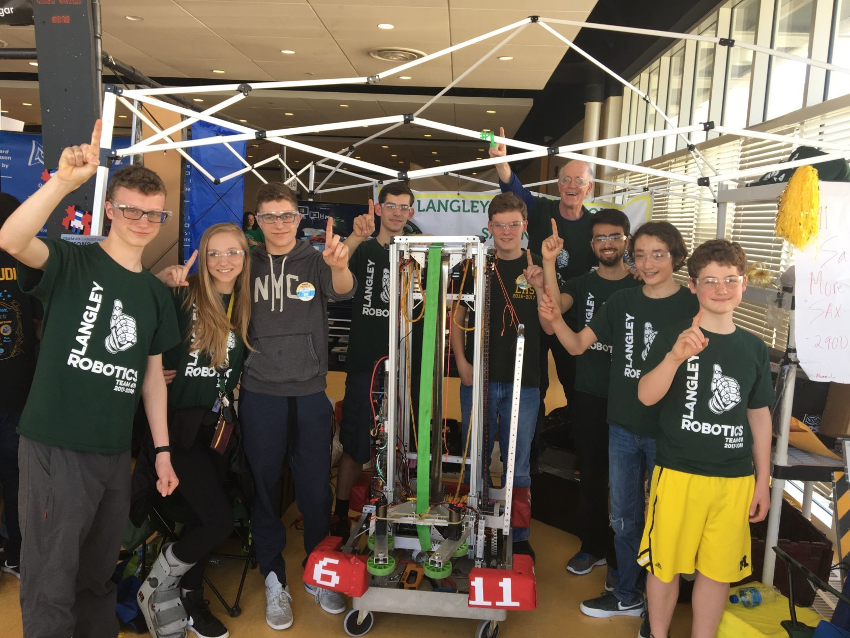 The team won an event in Oxen Hill, Maryland,earlier in the season. (Courtesy of Amy and Derrick Swaak)