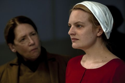 Hulu series 'The Handmaid's Tale' films at Lincoln Memorial