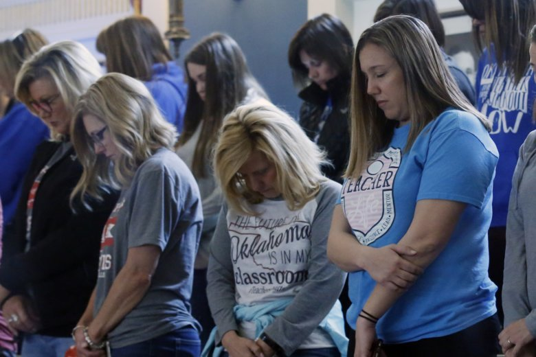 Oklahoma teachers hold second day of protests