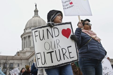 Oklahoma teachers walk out for 2nd day in red-state revolt