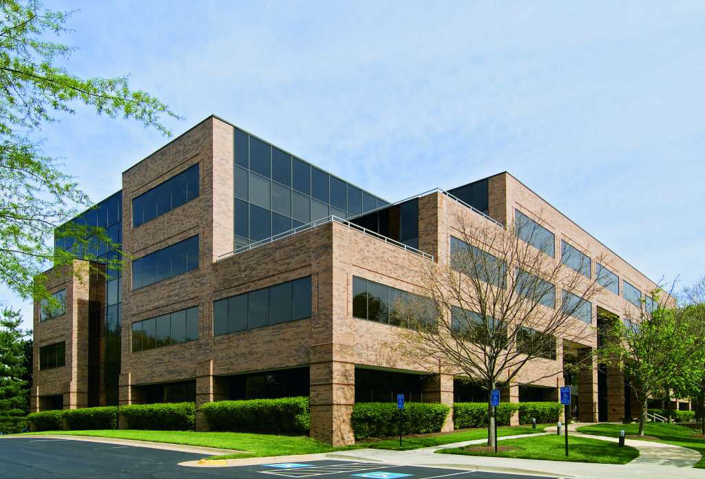 The trio of buildings on Sunrise Valley Drive were built between 1987 and 1990 on nearly a dozen acres. (Courtesy Fatimah Waseem/Cushman & Wakefield)