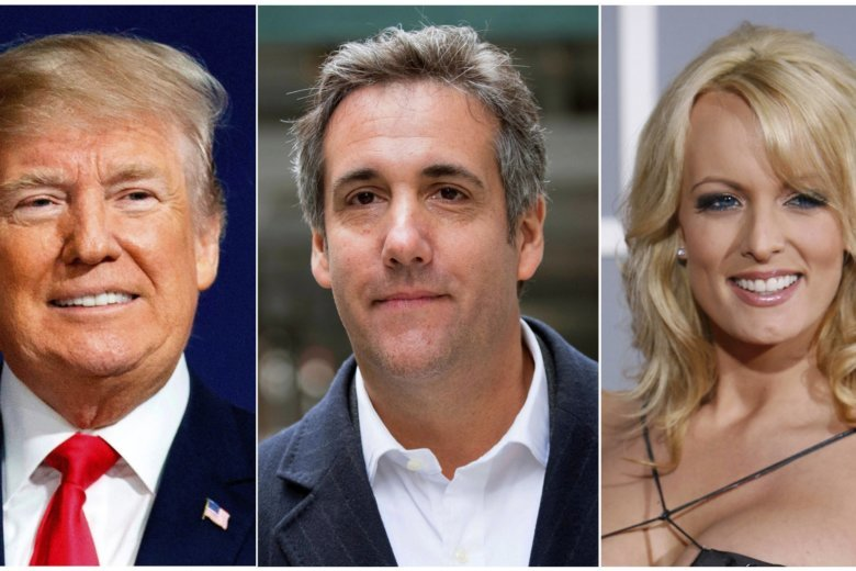 Trump Worlds Collide as Cohen Meets Stormy Daniels in New York Court