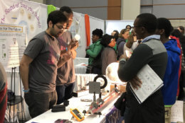 One of the more than 3,000 exhibits at the USA Science and Engineering Expo. (WTOP/Melissa Howell)