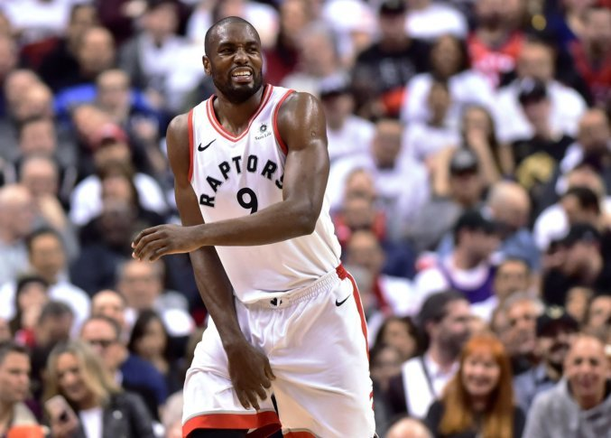 Wizards Raptors Basketball 65464 Toronto Raptors forward Serge Ibaka reacts  during the second half of Game 1 of the team s NBA basketball first-round  ... 7cbc2f7c6