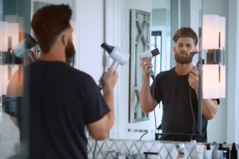 VIDEO: Bryce Harper stars in hair-care commercial after viral video
