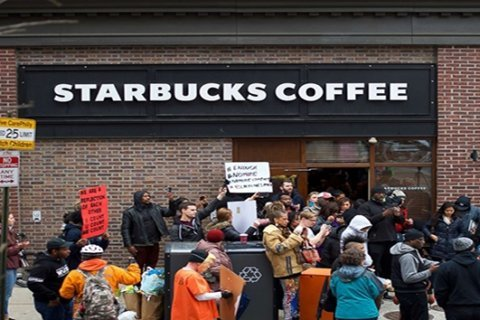 Starbucks manager told 911 of 2 men 'refusing to make a purchase or leave' before their arrests