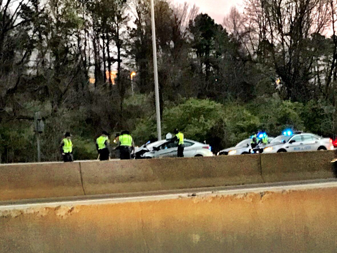 The crash happened shortly before 4 a.m. and closed the westbound lanes of I-66 near Fairfax County, Virginia, for more than two hours. (WTOP/Neal Augenstein)