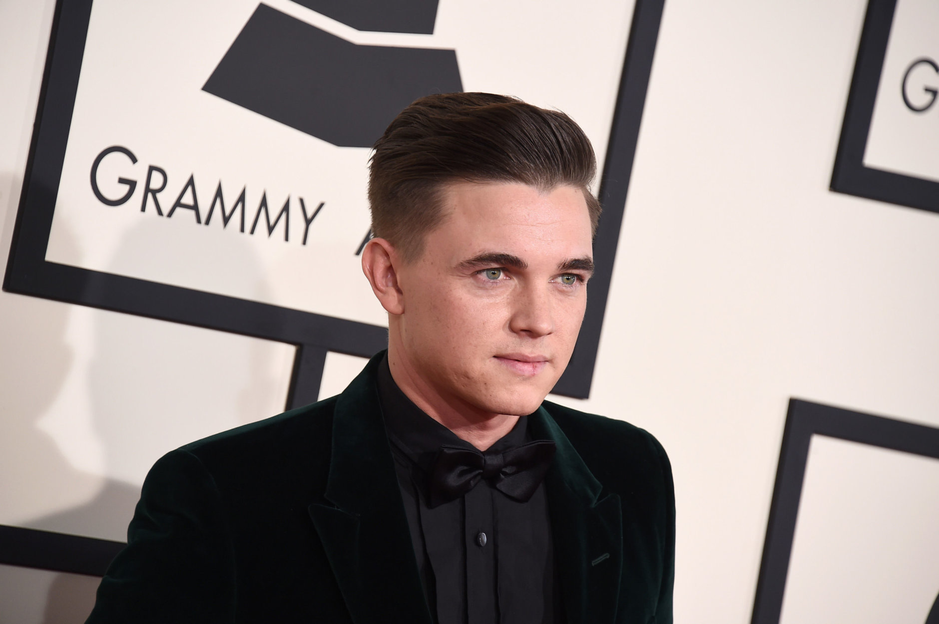 Jesse McCartney arrives at the 57th annual Grammy Awards at the Staples Center on Sunday, Feb. 8, 2015, in Los Angeles. (Photo by Jordan Strauss/Invision/AP)