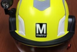 A new style of hard hat will be put to use for Metro workers. (Courtesy WMATA)
