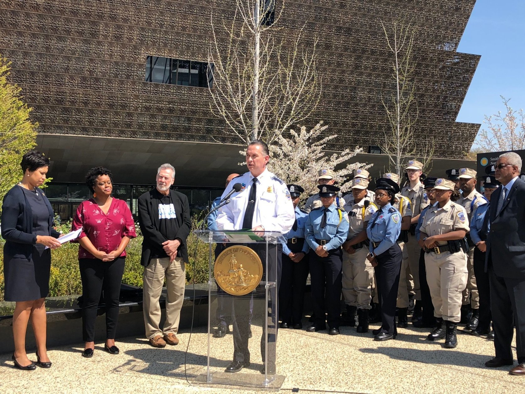 D.C. Police Chief Peter Newsham speaks during a press conference about the importance of the program to educate officers on the city's history with race and how policing has changed over the years. (WTOP/Megan Cloherty)