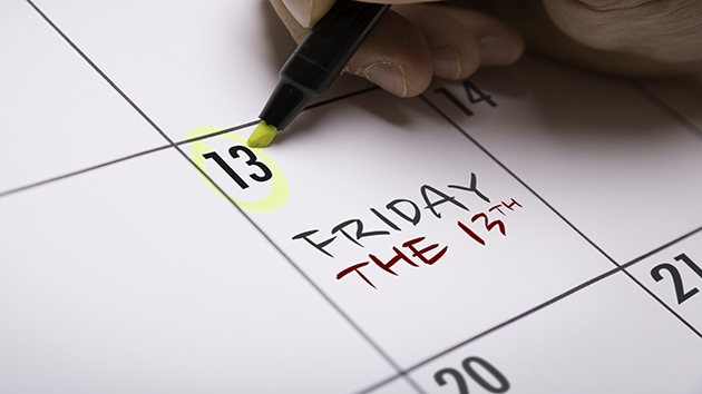 The first Friday the 13th of the year is upon us