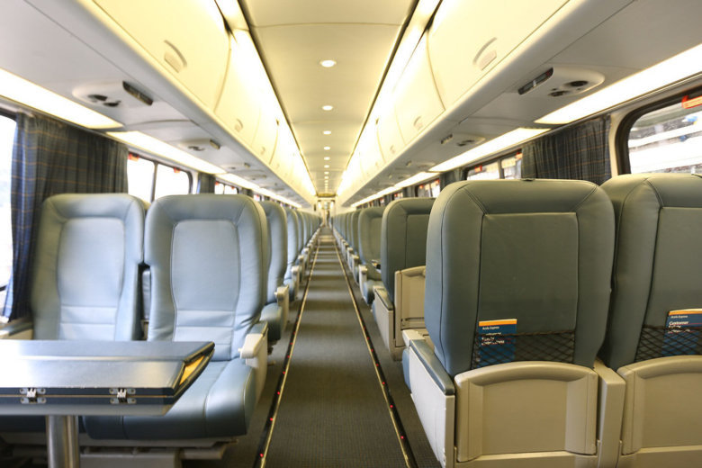 Acela gets interior redo old leather to become purses wtop - Boston interiors clearance center ...