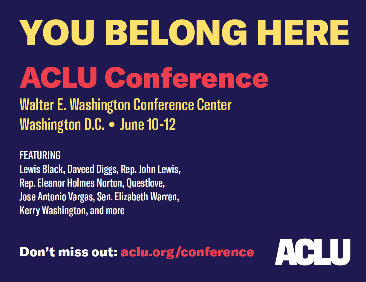 The ACLU also submitted an another version of the ad that eliminates the background entirely. As of Friday afternoon, Metro had not provided a response to any of the alternatives, the ACLU said. (Courtesy ACLU of D.C.)