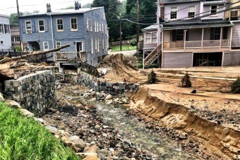 Ellicott City residents, owners get 1st glimpse of flood-ravaged Main Street