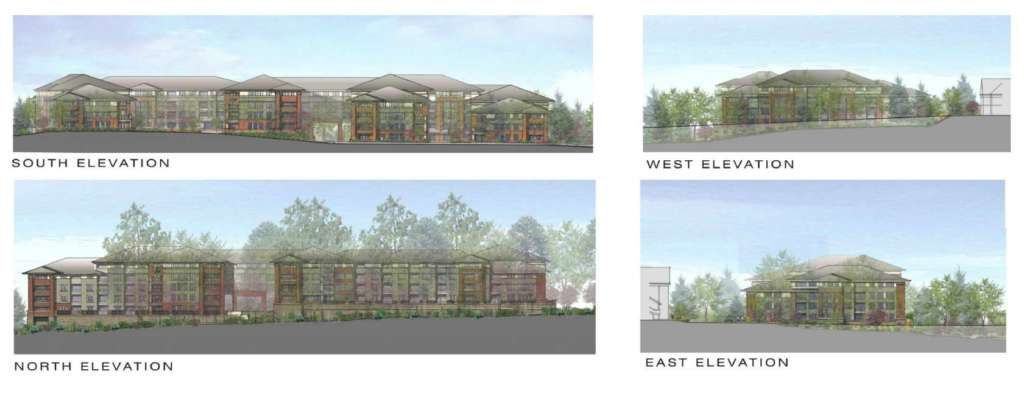 Renderings of the planned retirement community. (RestonNow)