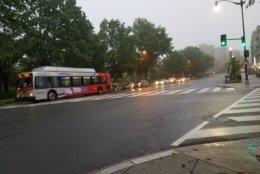 Rain and fog are plaguing an already-waterlogged D.C. area Thursday. (WTOP/Will Vitka)