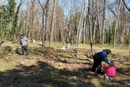 Families work to preserve the grave sites of their ancestors at East End Cemetery. (Photo credit: George Copeland Jr.)