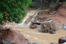A mudslide has affected services on the line. (Courtesy photo/Maryland Transit Administration)