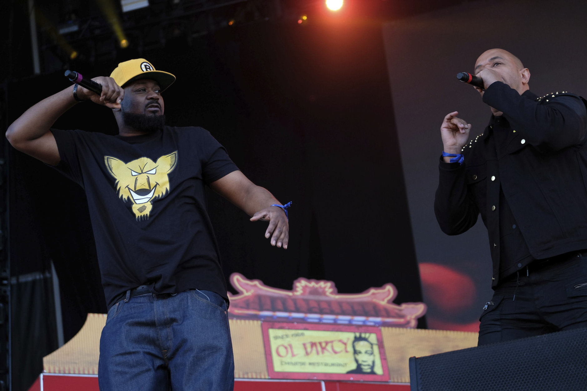 Ghostface Killah, left, and U-God from the hip hop group the Wu-Tang Clan perform on day two of the Governors Ball Music Festival on Saturday, June 3, 2017, in New York. (Photo by Charles Sykes/Invision/AP)
