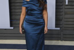 Monica Lewinsky arrives at the Vanity Fair Oscar Party on Sunday, March 4, 2018, in Beverly Hills, Calif. (Photo by Evan Agostini/Invision/AP)
