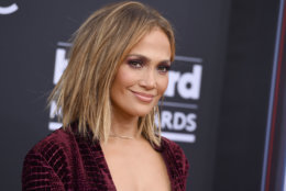 Jennifer Lopez arrives at the Billboard Music Awards at the MGM Grand Garden Arena on Sunday, May 20, 2018, in Las Vegas. (Photo by Jordan Strauss/Invision/AP)