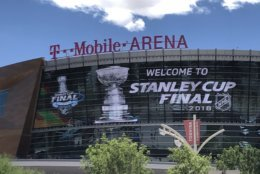 The T Mobile Arena, in Las Vegas, site of Game 1 of the Stanley Cup Finals. (WTOP/Brennan Haselton)