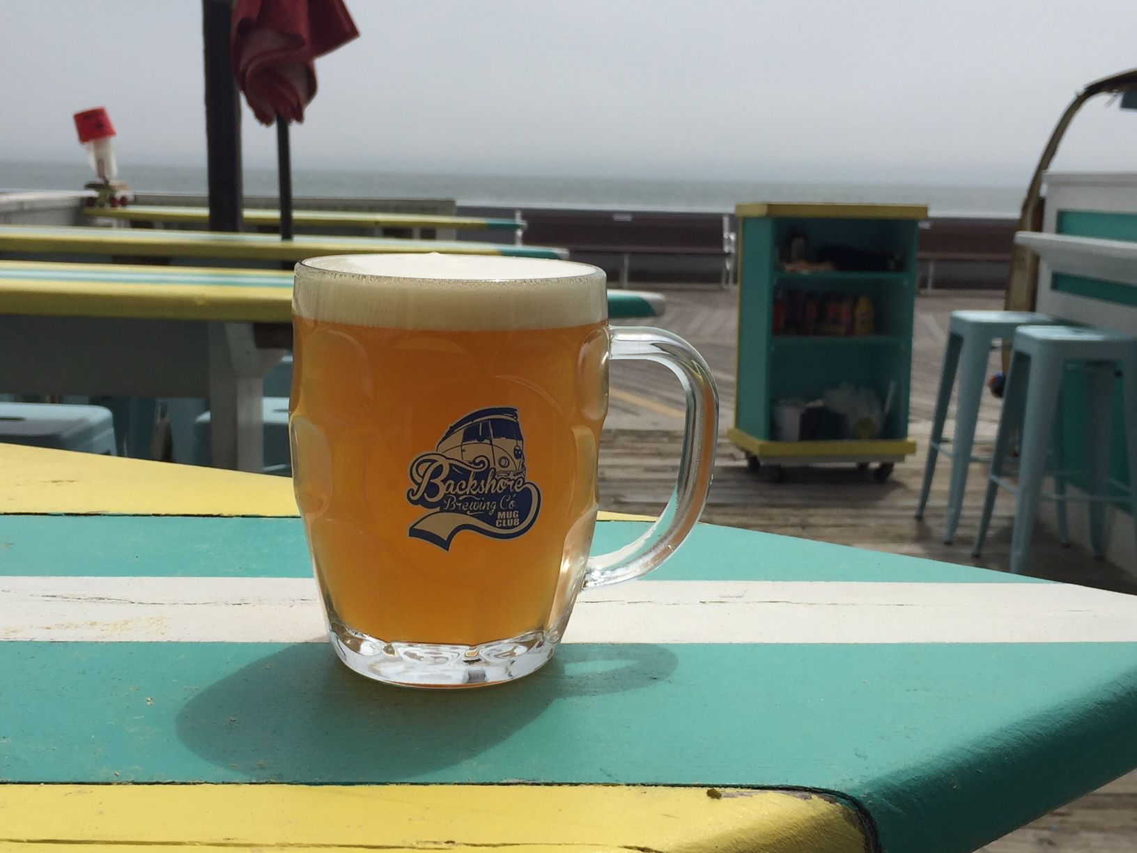 Backshore Brewing in Ocean City, Maryland, is the only brewery on Delmarva with an ocean-front bar. (WTOP/John Domen)
