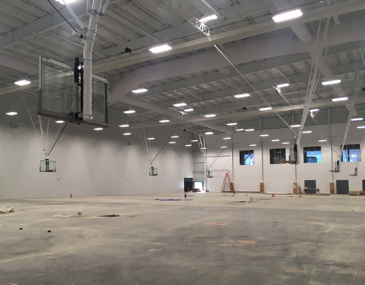 There is also a fieldhouse that accommodates four full-size basketball courts or nine volleyball courts. (WTOP/Noah Frank)