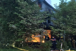 As of 6:43 a.m., most of the fire was out although some hot spots continued to burn in the attic. Officials are investigating to determine the cause and origin of the fire. (Courtesy Mark Brady via Twitter)