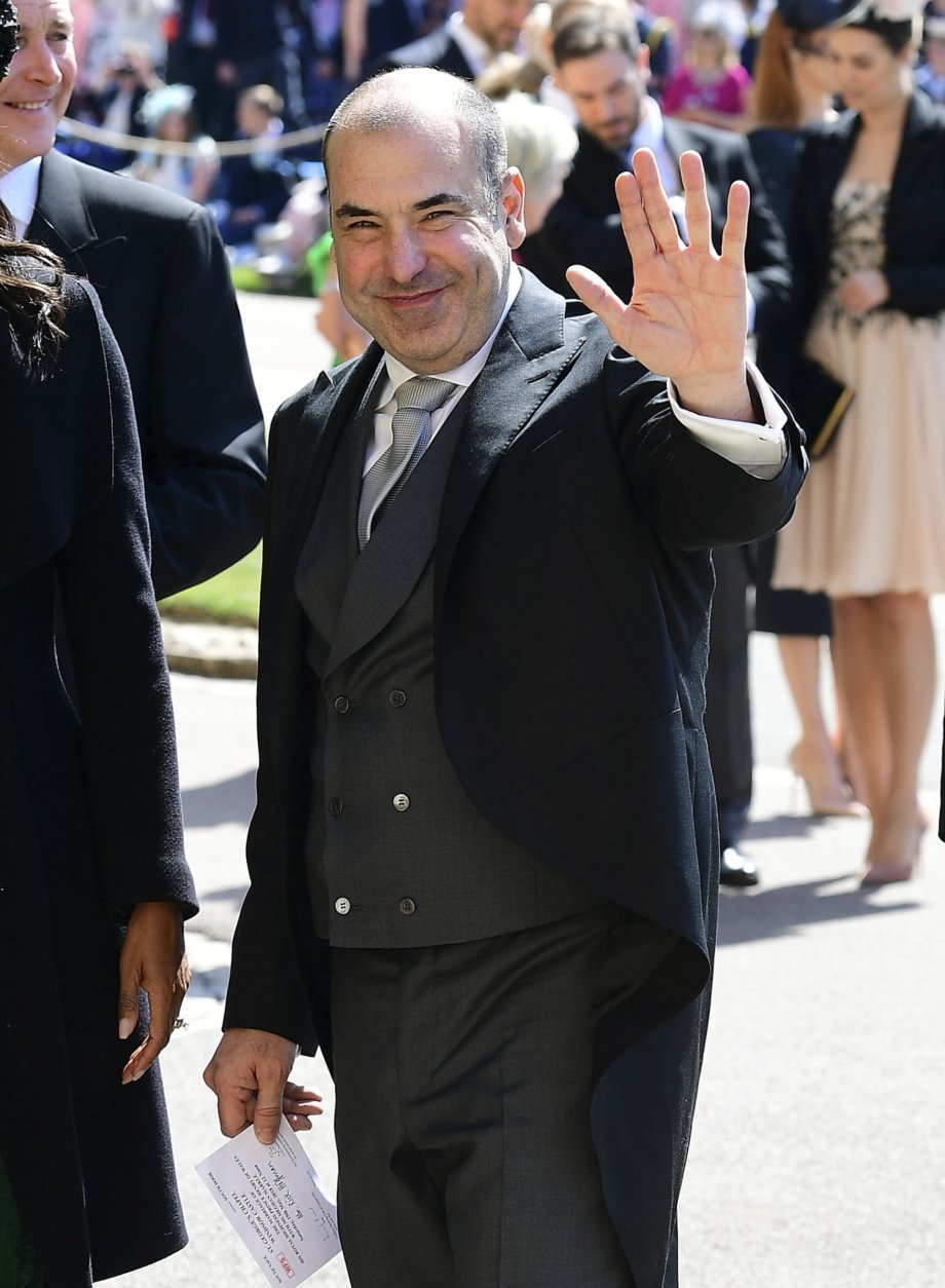 Rick Hoffman arrives for the wedding ceremony of Prince Harry and Meghan Markle at St. George's Chapel in Windsor Castle in Windsor, near London, England, Saturday, May 19, 2018. (Ian West/pool photo via AP)
