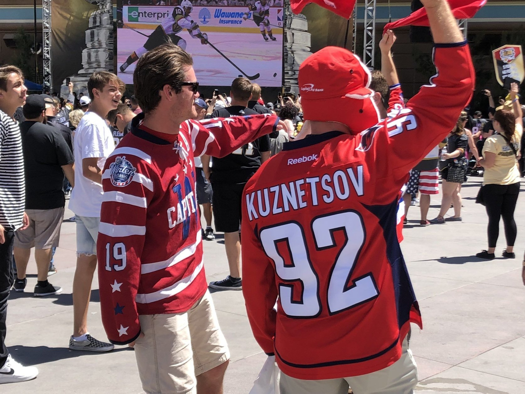 Some Capitals fans have made the trip to Las Vegas for Game 1 of the Stanley Cup Finals. (WTOP/Brennan Haselton)