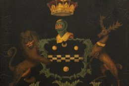 A coach (or possibly yacht) panel, circa 1800, with the arms of the Earl of Chatham (Courtesy The Potomack Company)