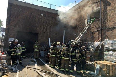 Fire destroys DC warehouse