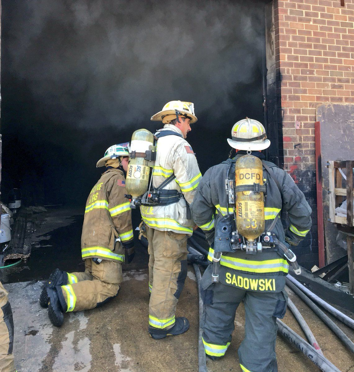 D.C. Fire and EMS said its crews conducted defensive attacks on the two-alarm fire. (Courtesy DC Fire & EMS)