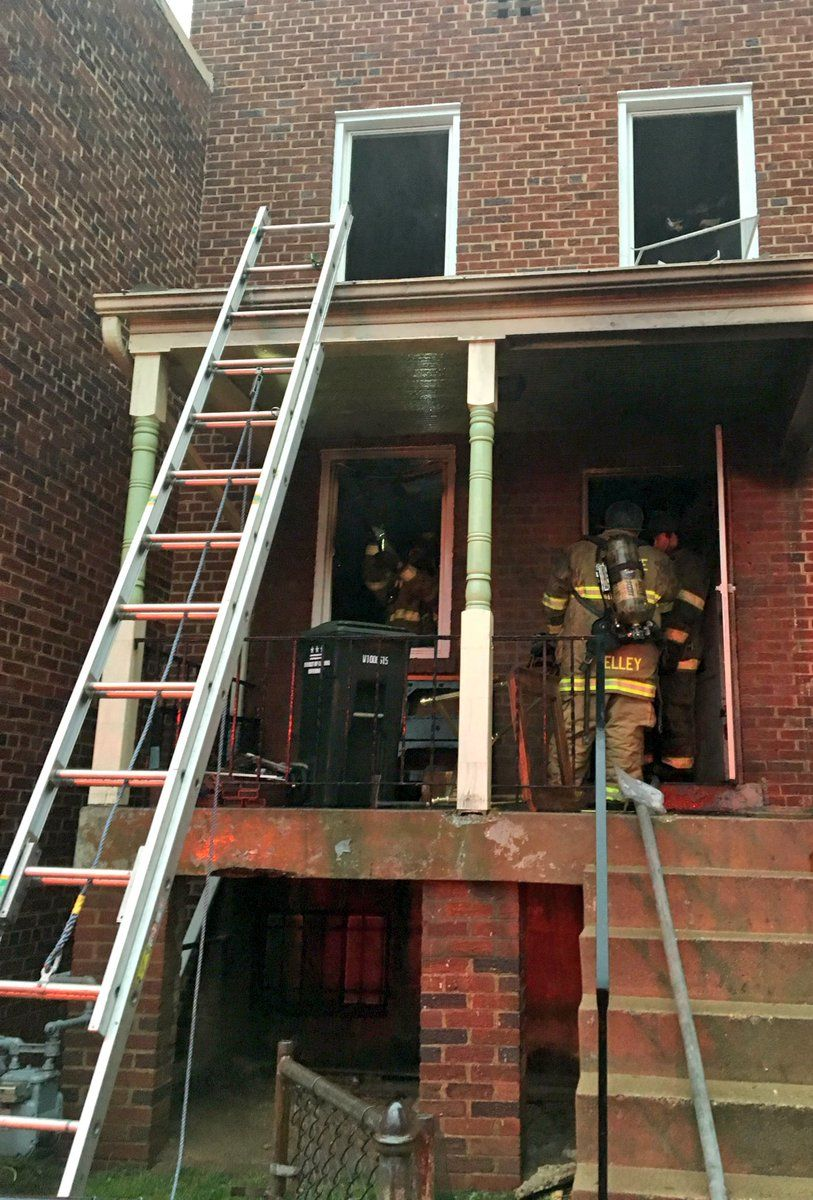 A man was transported to a hospital with critical injuries after at Thursday morning fire. (Courtesy DC Fire and EMS)