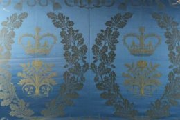 Textile from Westminster Abbey used in Elizabeth II's coronation (Courtesy The Potomack Company)