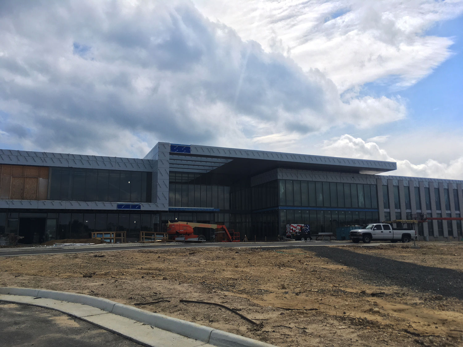 The St. James is a 450,000 square foot sports and wellness center opening in Fairfax County in September. (WTOP/Noah Frank)
