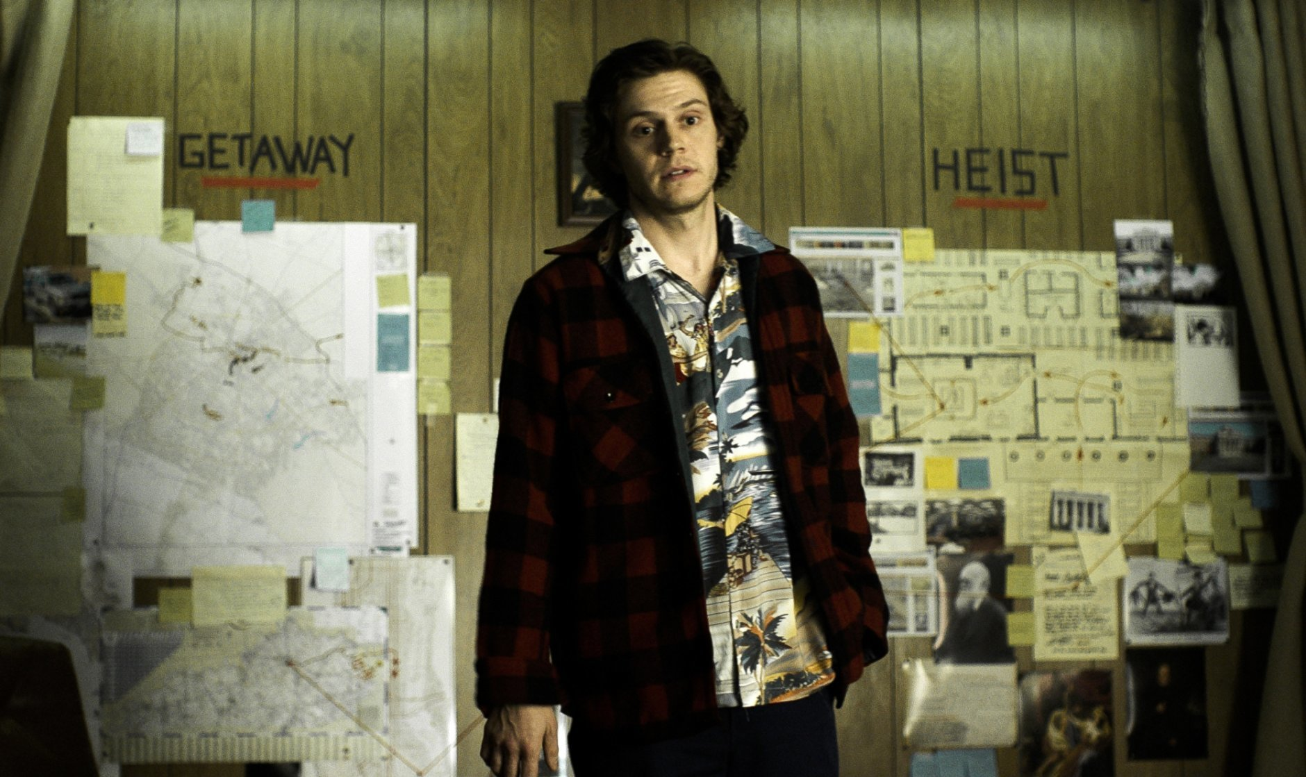 "This image released by The Orchard shows Evan Peters in a scene from ""American Animals."" (The Orchard via AP)"