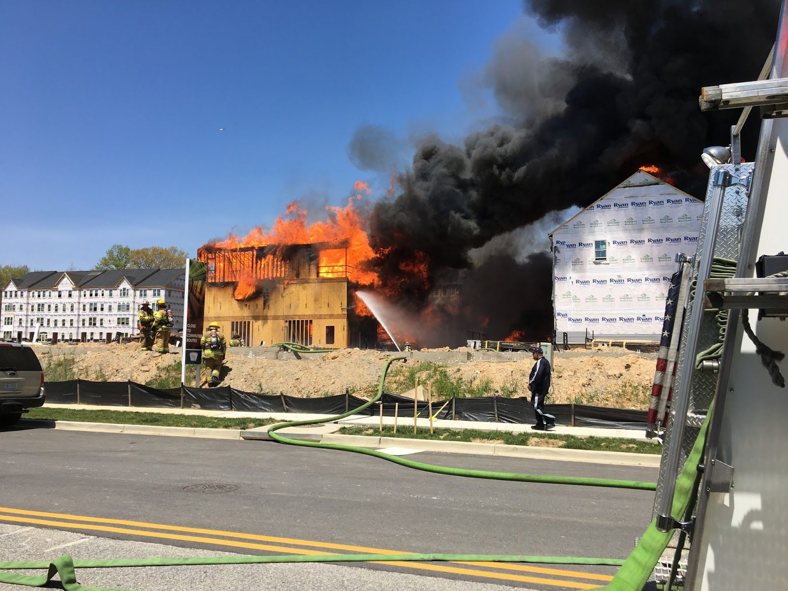The cause of the fire in Prince George's County, Maryland, remains unknown. (Courtesy Prince George's Fire and EMS)