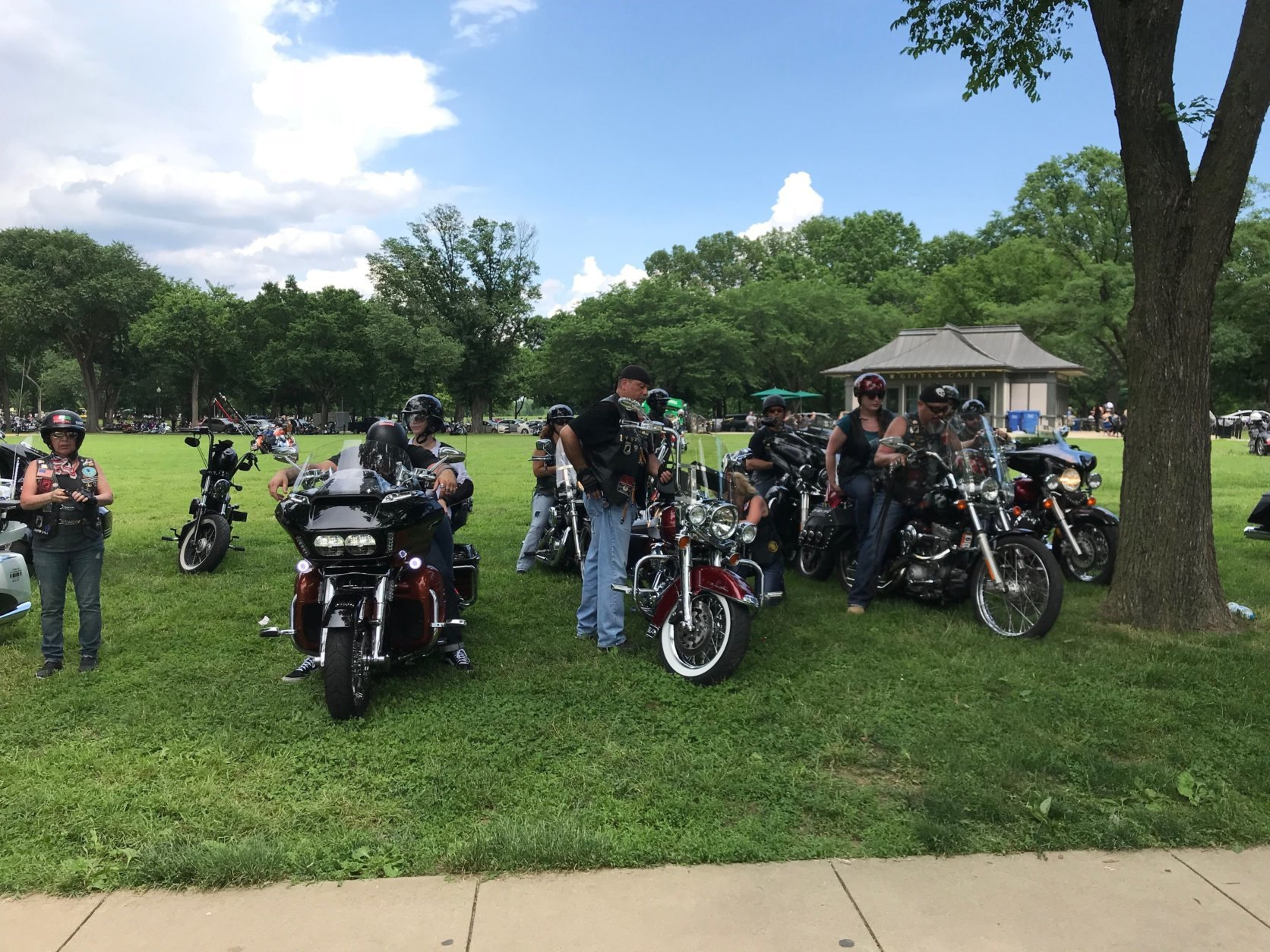 Rolling Thunder was established in 1987 to call attention to any prisoners of war or those listed as missing in action. Riders said they are also committed to helping U.S. veterans from all wars. (WTOP/Dick Uliano)