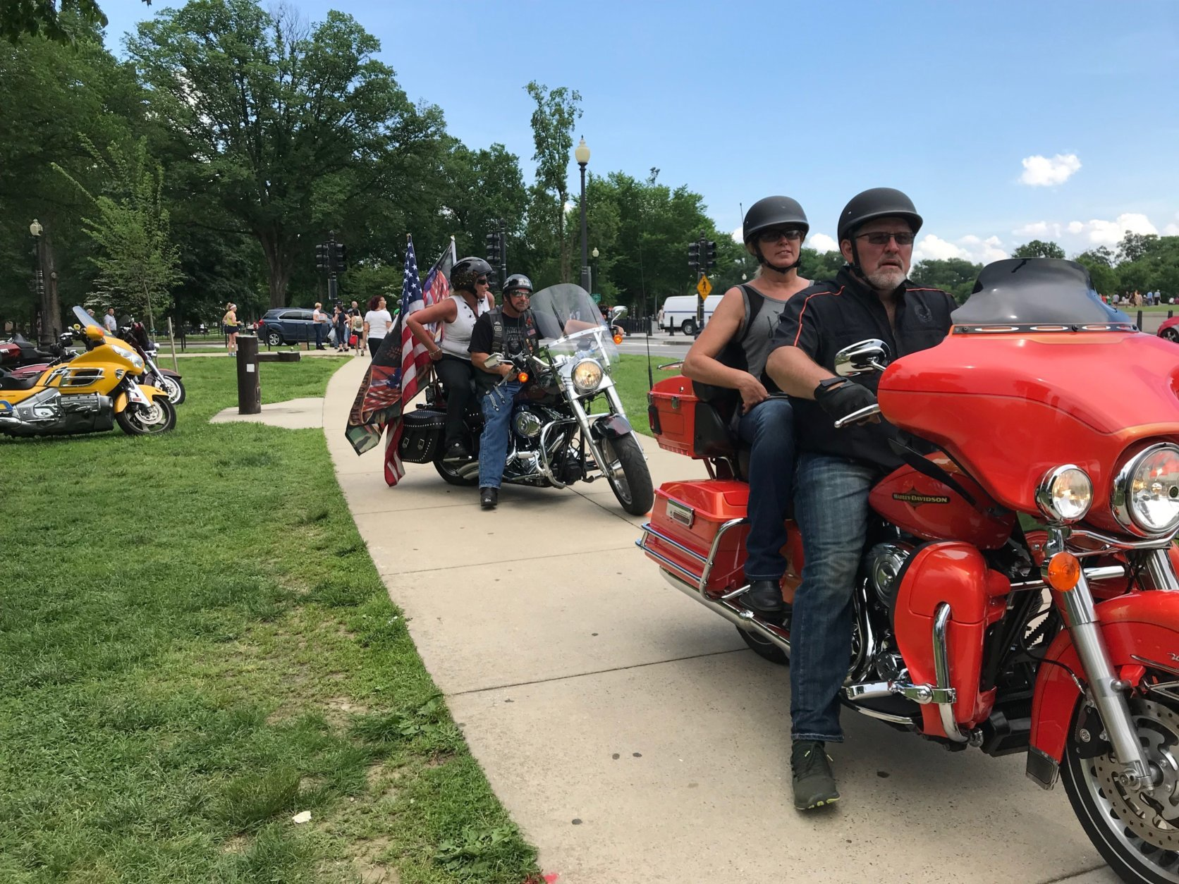 Motorcyclists from the across the nation are in the District for the 31st annual Rolling Thunder Ride for Freedom. (WTOP/Dick Uliano)