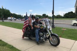 Each Memorial Day weekend, bikers salute military veterans and remember those who did not come home. (WTOP/Dick Uliano)