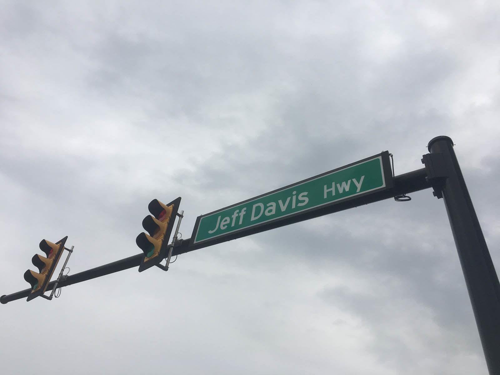 Road sign Jefferson Davis Highway