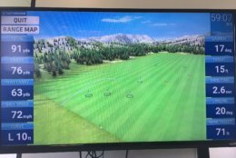 The Launch Monitor option lets you see virtual targets that correspond to actual ones on the range. (WTOP/Noah Frank)