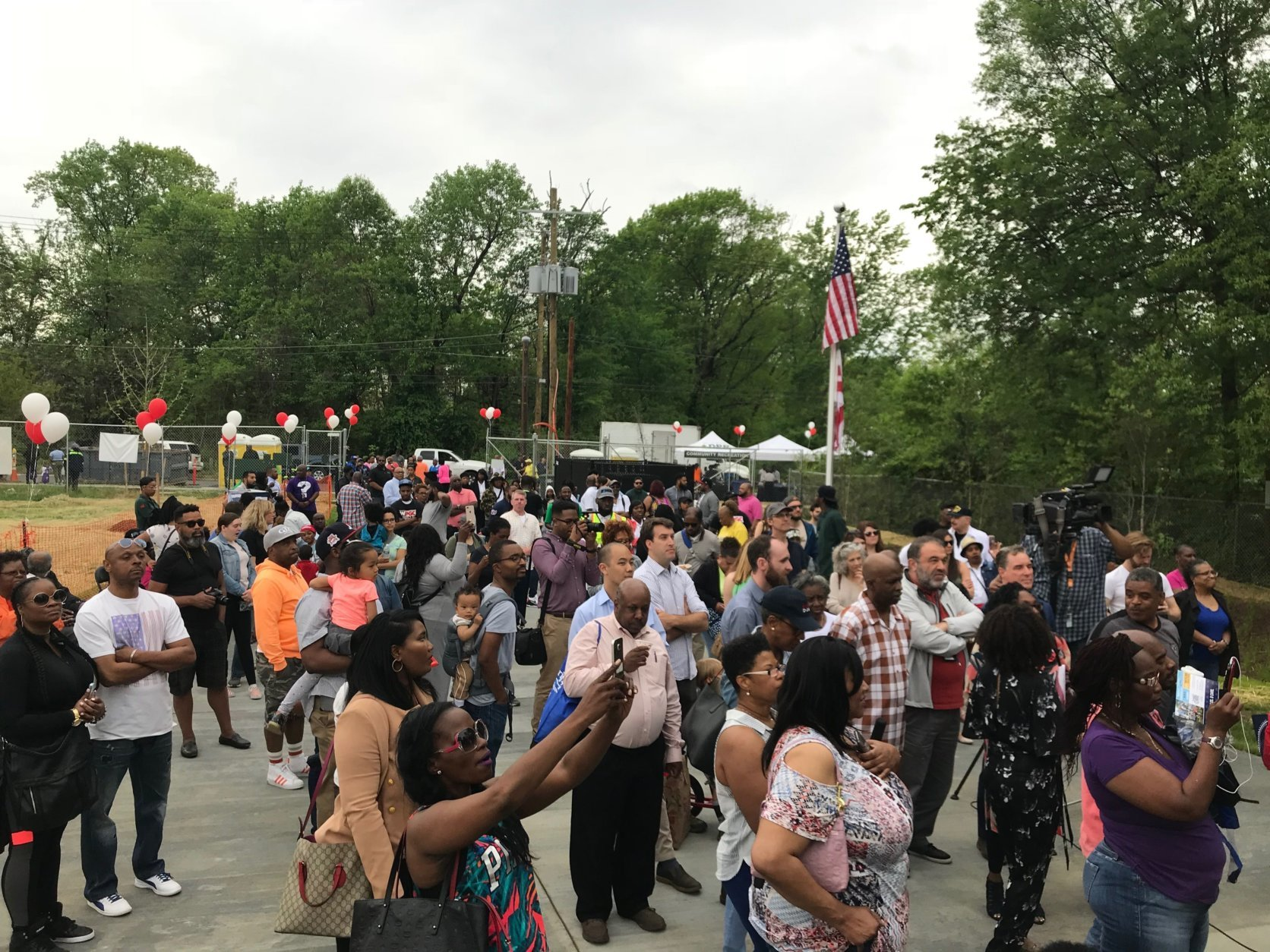 People attend the dedication of the Marvin Gaye Recreation Center in D.C. on Saturday, May 5, 2018. (WTOP/Dick Uliano)