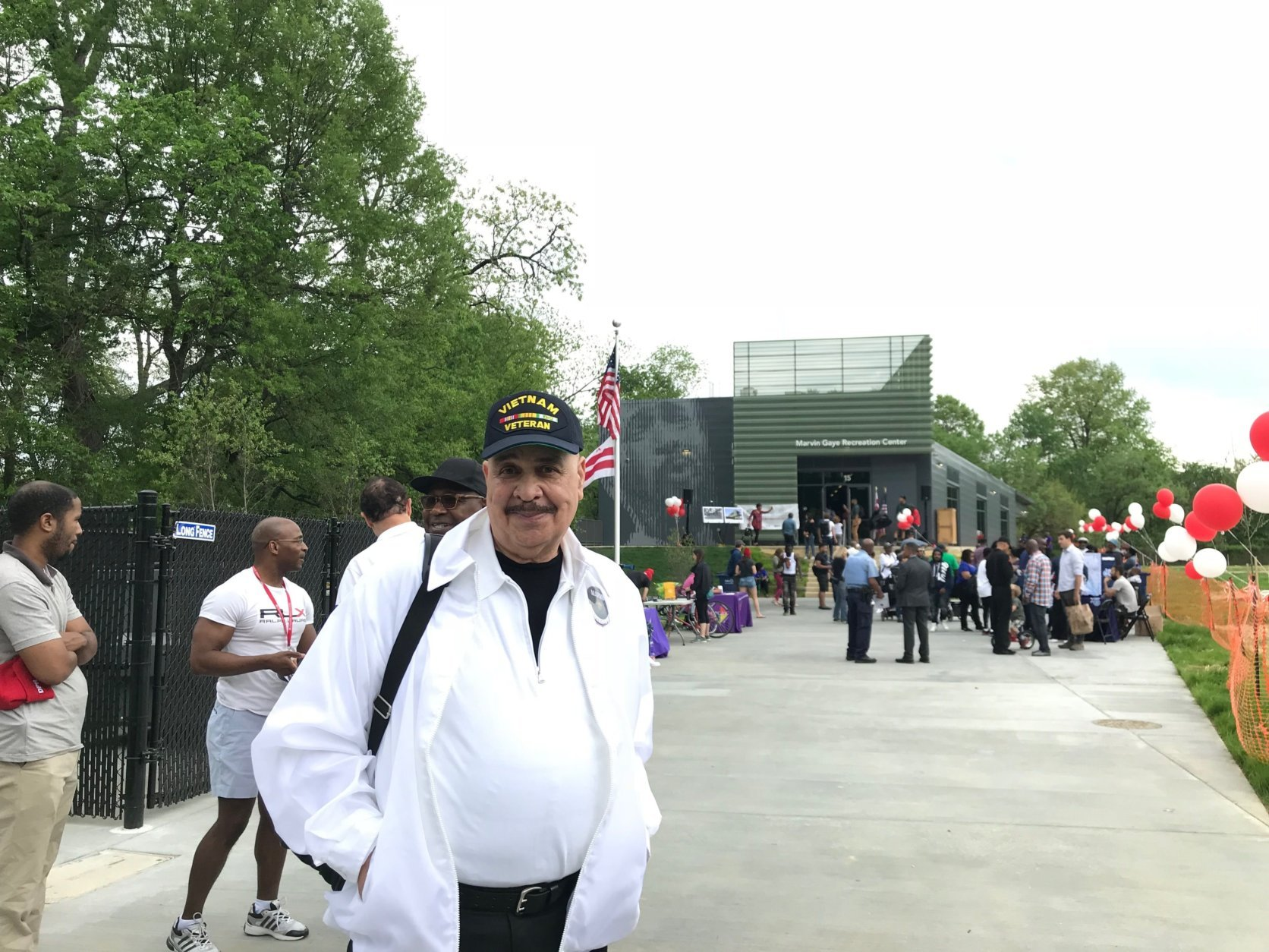 Ron Dearing attends the dedication of the Marvin Gaye Crecreation Center on Saturday, May 5, 2018. (WTOP/Dick Uliano)