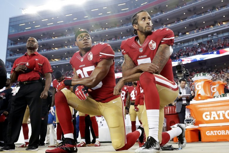 National Football League  players call Trump 'idiot,' 'disgusting' over anthem flap