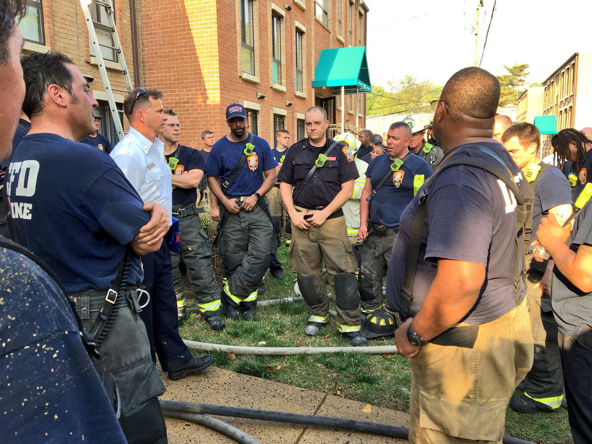 Two firefighters were transported to a hospital with non life threatening injuries after the fire. (Courtesy D.C. Fire and EMS)